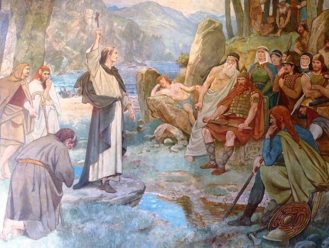 Святой Колумба обращает пиктов в христианство