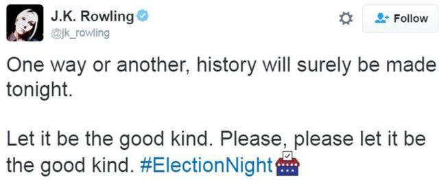 जे के राउलिंग का ट्वीट