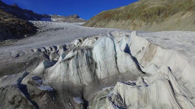 COP21: Rhone Glacier drone footage shows ice retreat