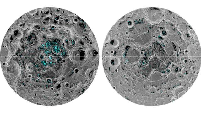 Air berbentuk es di Bulan