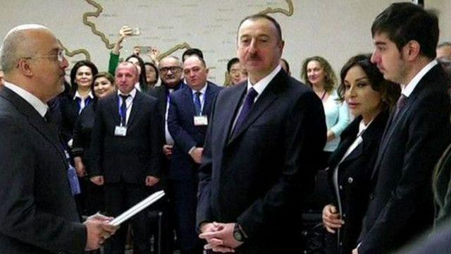 İlham Əliyev, Mehriban Əliyeva və Heydər Əliyev