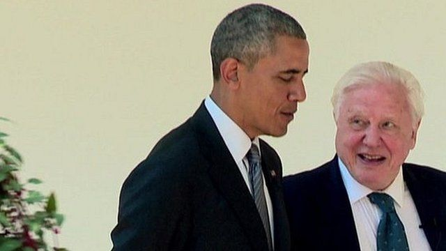 US President Barack Obama and Sir David Attenborough