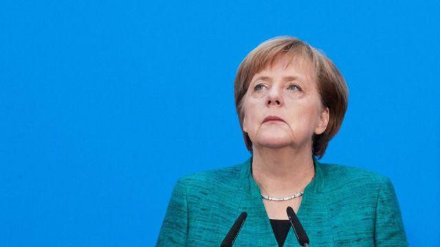 Nemačka kancelarka Angela Merkel na konferenciji za štampu 12. februara 2017.