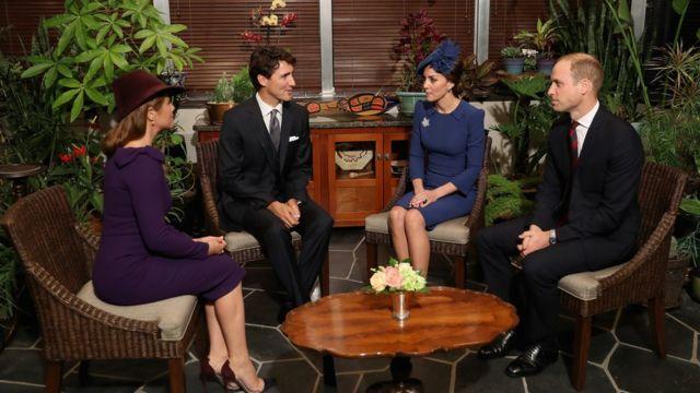 Şahzadə William və Catherine Justin Trudeau və onun xanımı Sophie Grégoire ilə vaxt keçiriblər.