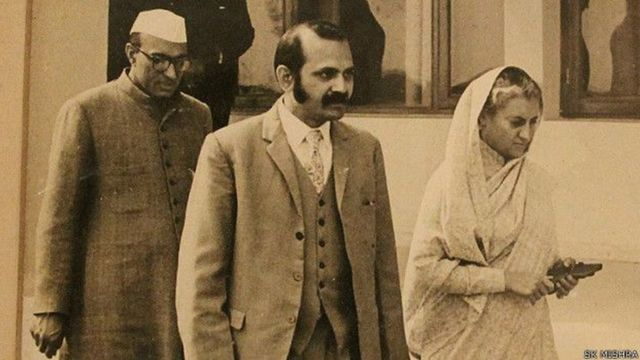 बंसी लाल, एस.के. मिश्रा और इंदिरा गांधी
