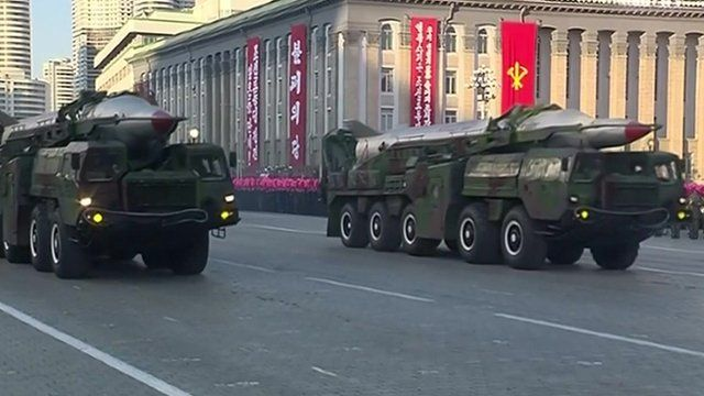Missiles on show during nuclear parade