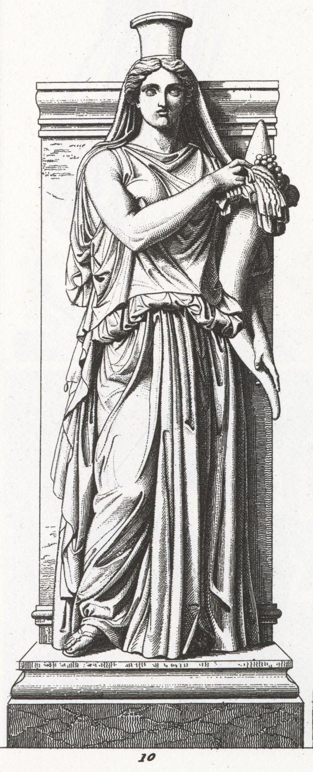 Gravura de estátua de Felicitas