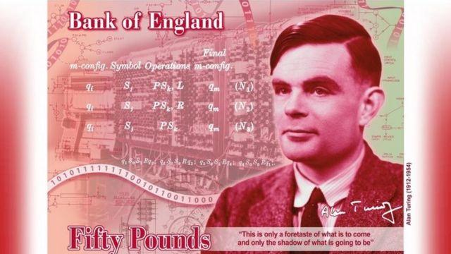 英国最新宣布的50英镑纸币设计图