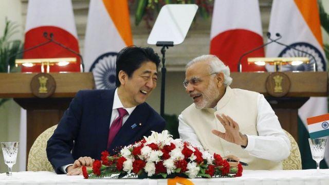 मोदी, शिंजो आबे, भारत, जापान