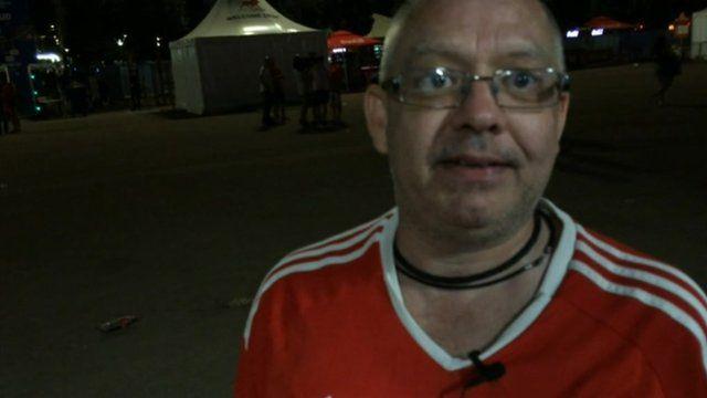 Wales fan Brian Harry