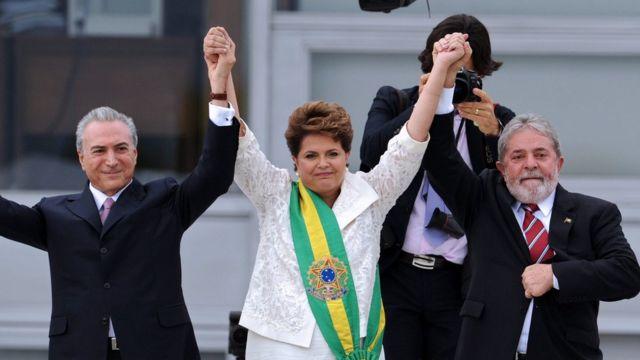 Dilma, Temer y Lula