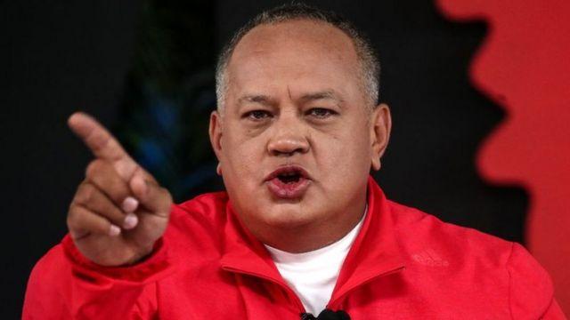 Diosdado Cabello durante el show, marzo 2019