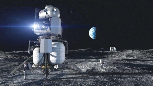 Группа компаний под руководством Blue Origin создаст посадочный лунный модуль, разделяющийся на три части