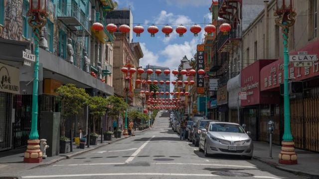 2020年5月,旧金山唐人街(photo:BBC)