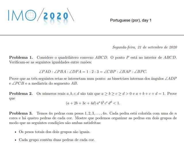 Exercício da IMO 2020