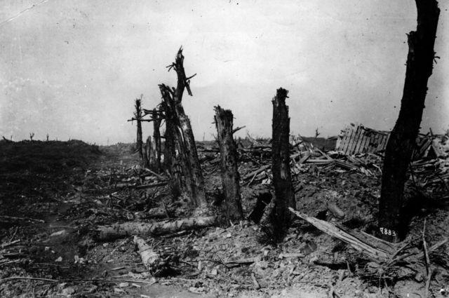 El sector Bapaume-Arras, después de la primera batalla del Somme.