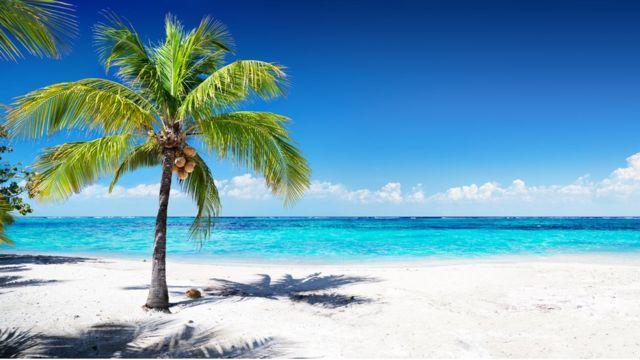 一個加勒比海小島。(資料圖片)
