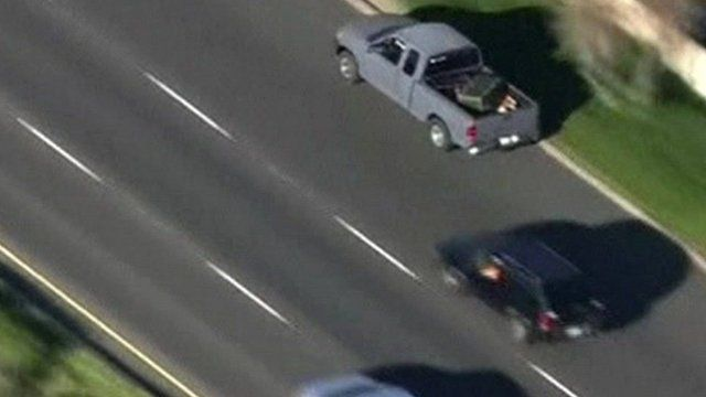 Car chase in California on 24 February 2016