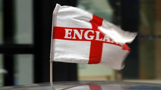 England flag on a car