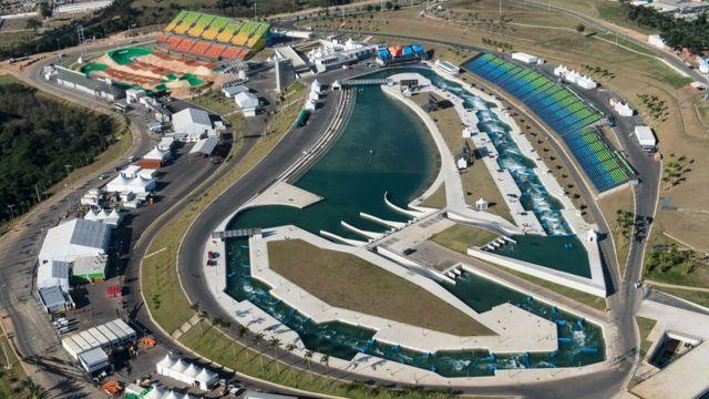 O Centro Olímpico de BMX e o Estádio de Canoagem Slalom