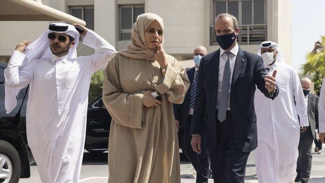Dominic Raab in Qatar
