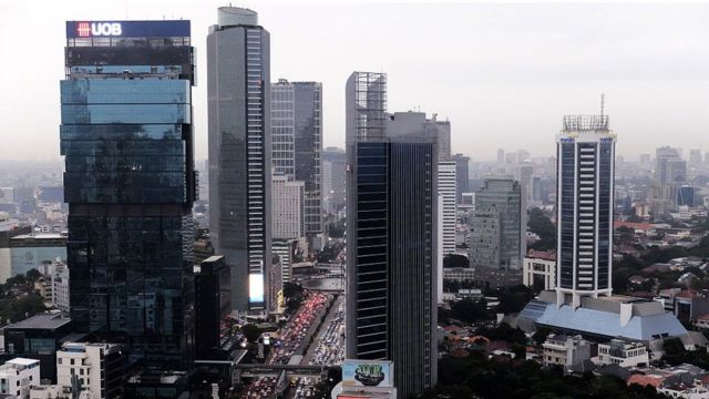 Picture of skyscrapers in Central Jakarta