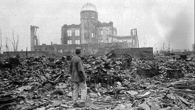 Archive photo of Hiroshima in 1945