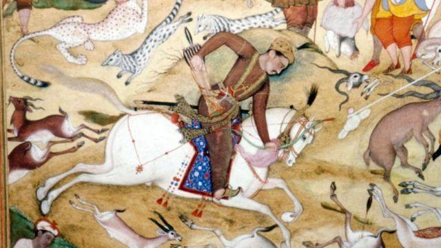 ব্রিটিশ মিউজিয়ামে বাদশাহ আকবরের শিকারের তৈলচিত্র