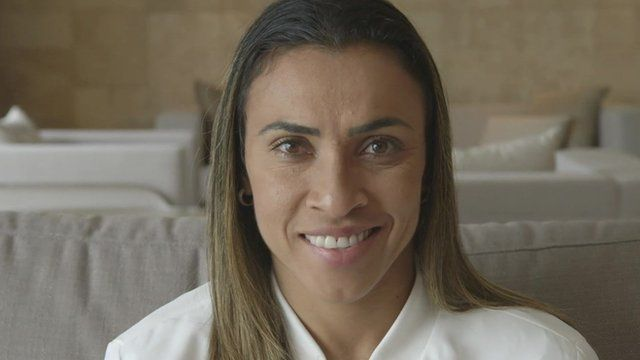 Marta speaking to the BBC