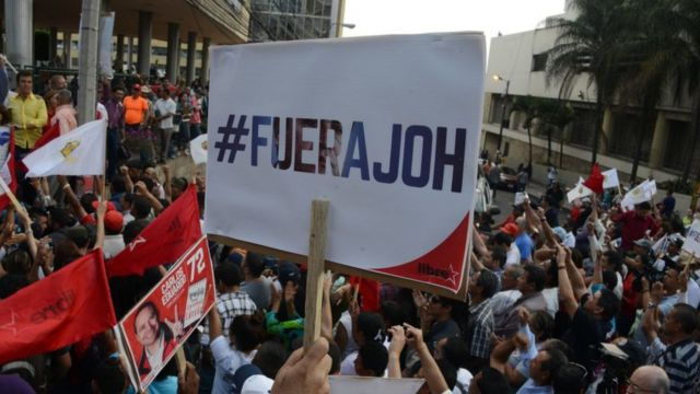Protesta contra Juan Orlando Hernández