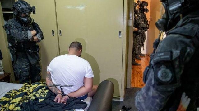 Mais de 200 pessoas foram presas na Austrália