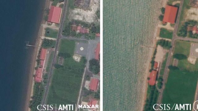 Campuchia xác nhận san bằng cơ sở quốc phòng do Mỹ tài trợ để phát triền căn cứ hải quân bằng tiền của Trung Quốc.