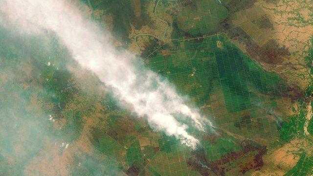 Indonesia (Kalimantan) on 14 September
