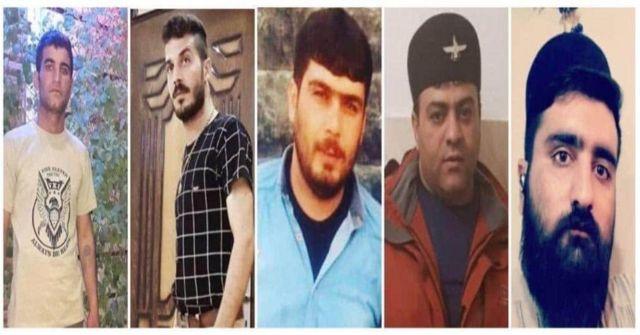 تصویر که در شبکههای اجتماعی دست به دست میشود، از راست: محمد بسطامی، مهدی صالحی، هادی کیانی، عباس محمدی و مجید نظری