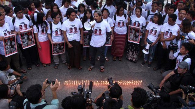 မီဒီယာလွတ်လပ်ခွင့်ပေးဖို့ အန်အယ်လ်ဒီအစိုးရလက်ထက် ဆန္ဒထုတ်ဖော်တာတွေရှိ