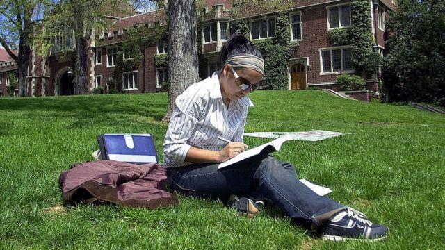 Una estudiante universitaria en Canadá