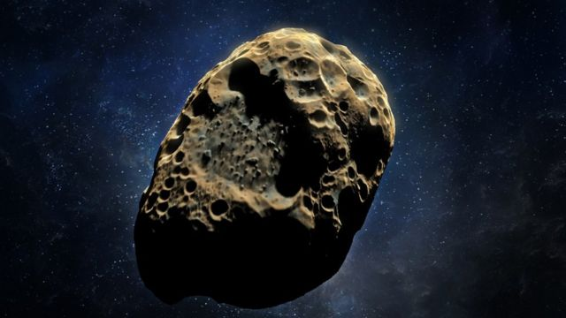 Imagen tridimensional de un asteroide