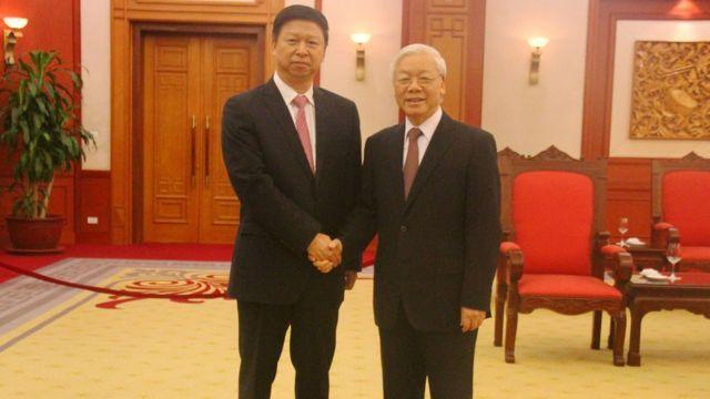 Tổng Bí thư Nguyễn Phú Trọng tiếp ông Tống Đào, Ủy viên Trung ương Đảng, Trưởng Ban Liên lạc Đối ngoại Trung ương Đảng Cộng sản Trung Quốc