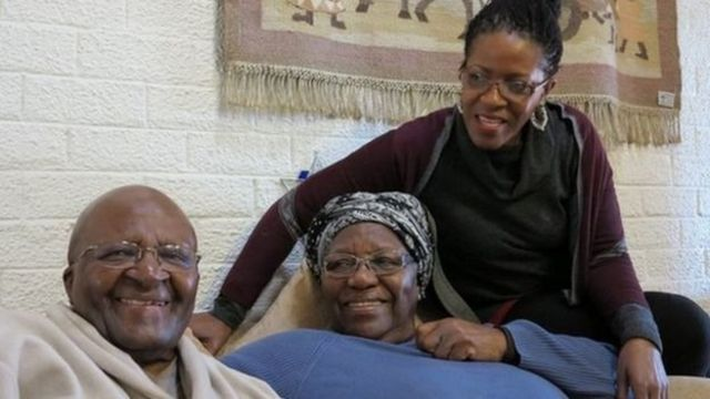 Desmond Tutu y su familia