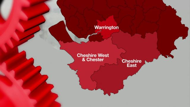infographics of Cheshire's councils