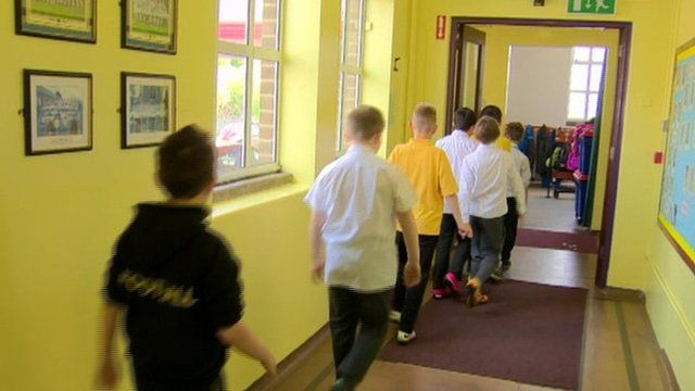 A Lurgan primary school has introduced a 'daily mile' into its school day, getting its pupils to walk or run a mile every day