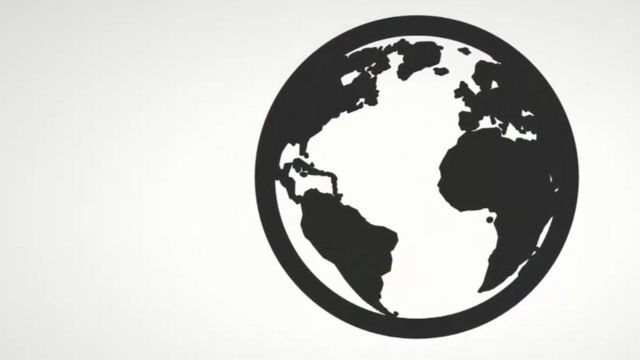 A graphic of a globe