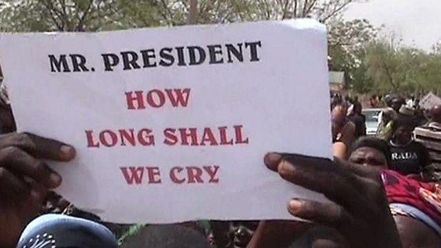 Chibok rally poster, file pic