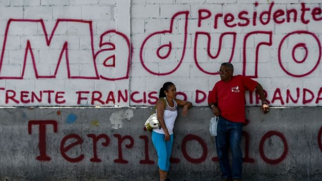 Mural de Presidente Maduro.