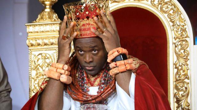 Olu of Warri Emiko coronation: Ogiame Atuwatse III reverse curse, declare  key titles - BBC News Pidgin