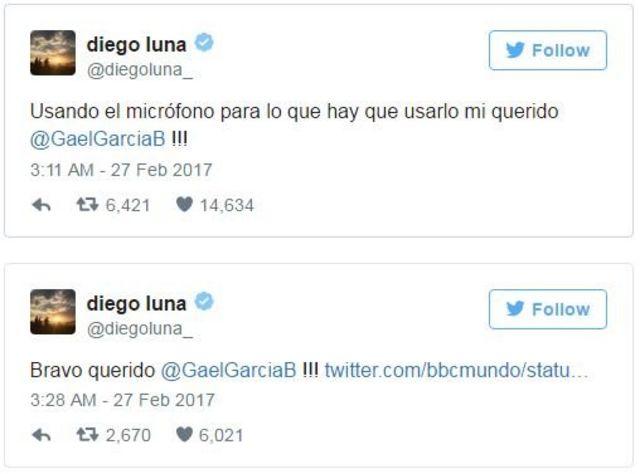 Tuit de Diego Luna