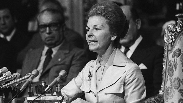 Isabel Martínez de Perón en 1975.