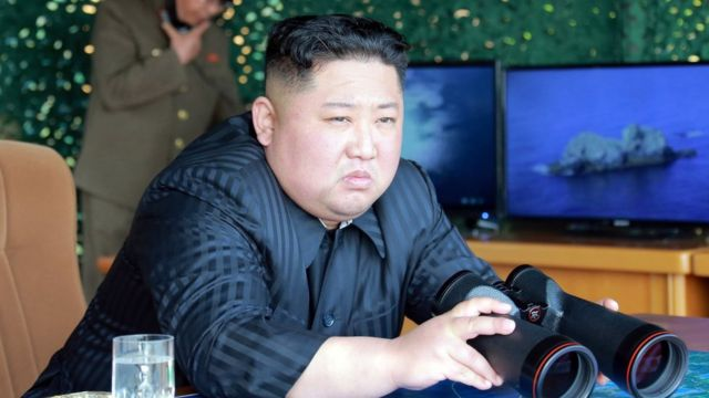 North Korean leader guides strike drill in the East Sea of Korea on 4 May.