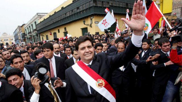 Alan García ao assumir o segundo mandato presidencial, em 2006
