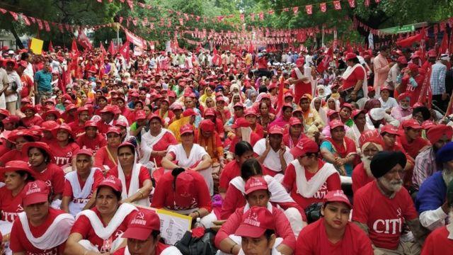 दिल्ली में विरोध प्रदर्शन